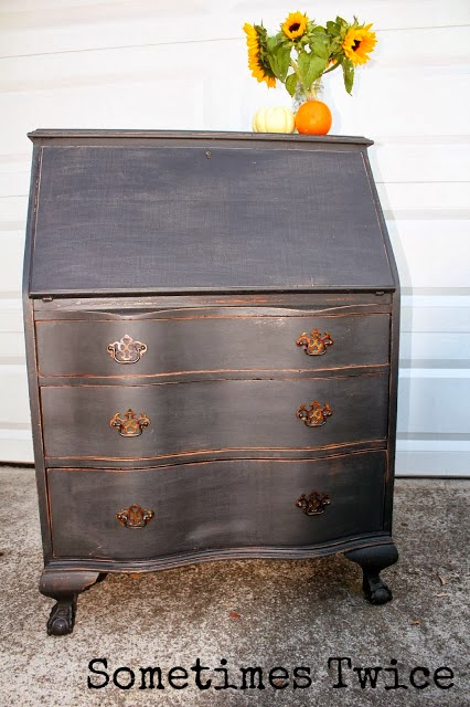 http://sometimestwice.blogspot.com/2013/11/black-antique-secretary.html