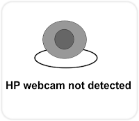 HP webcam not detected