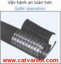Ống ruột gà lõi thép CVL vận hành an toàn