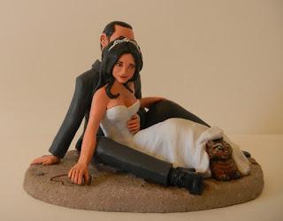 orme magiche cake topper personalizzati sposini torta nuziale statuine sposi