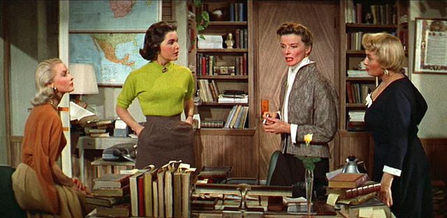 Librarians At Desk Desk set (1957): dina merrill,