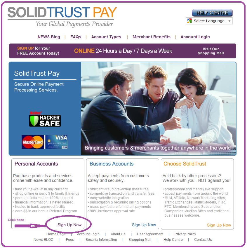 trust online registration