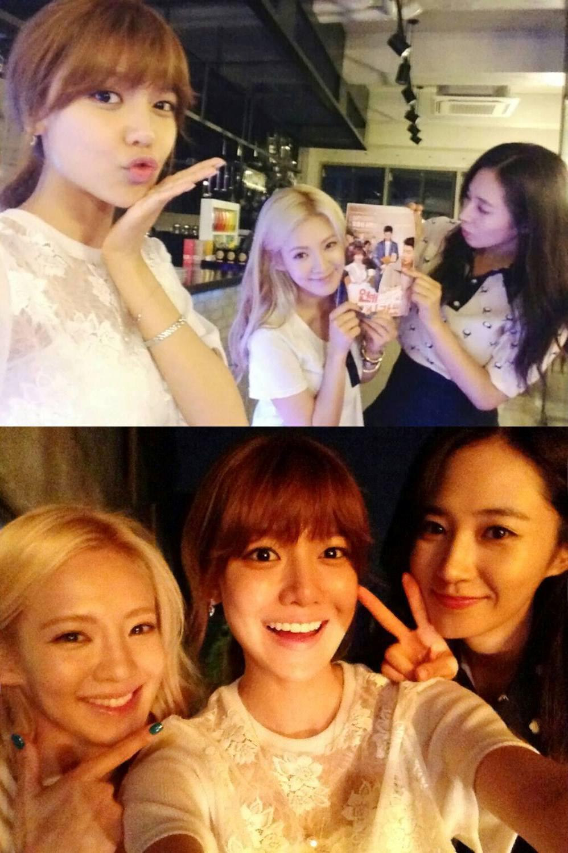 girls u2019 generation u2019s hyoyeon and yuri visit sooyoung on the set of her drama