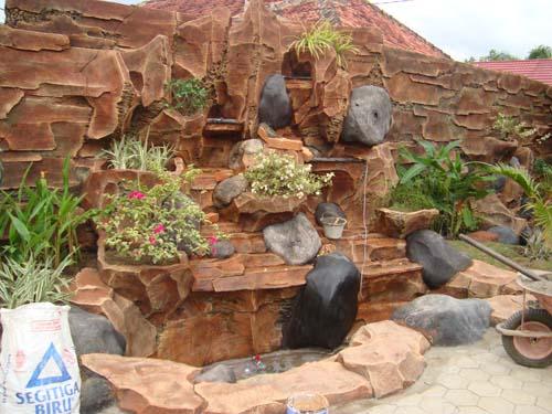 ... TEBING, CAT PRADA DI SINGARAJA BULELENG BALI: Kolam Hias & Batu Alam