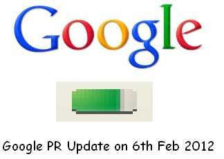 Google PR Update 2012 on 6th February 2012