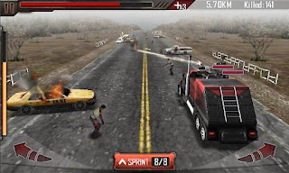 Screenshots of the Zombie Roadkill for Android tablet, phone.