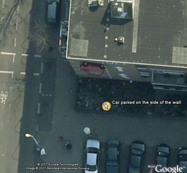 how to find parked car with google maps