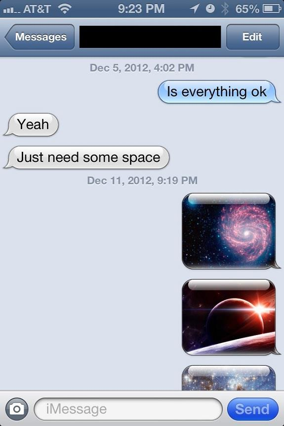 I Just Need Some Space