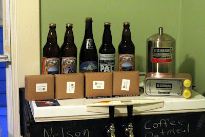 So much good beer and equipment, plus some Cascades from Indie Hops!