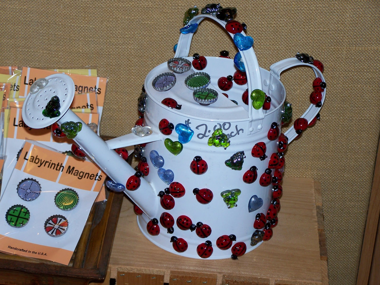 Kristin berkey abbott valentine 39 s wishes and a poem - Ladybug watering can ...