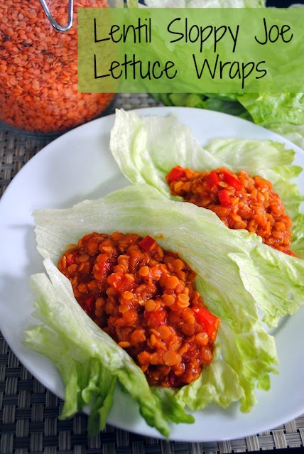 Lentil Sloppy Joe Lettuce Wraps - A simple, healthy and delicious Meatless Monday meal!