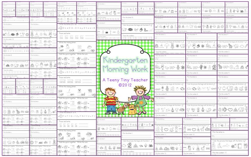 math worksheet : try it free tuesday morning work  miss kindergarten : Morning Worksheets For Kindergarten
