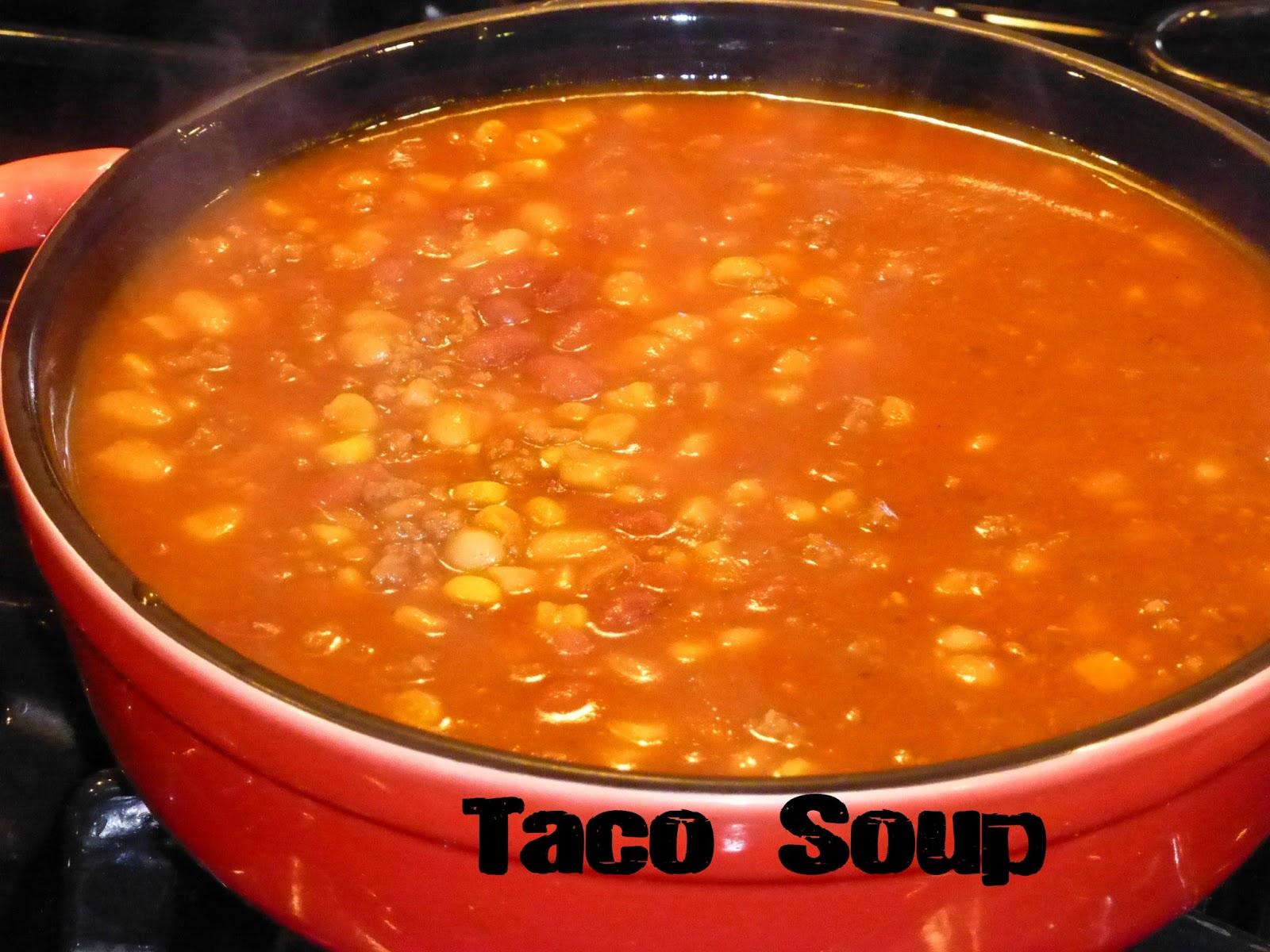 Taco Soup & Corn Cakes
