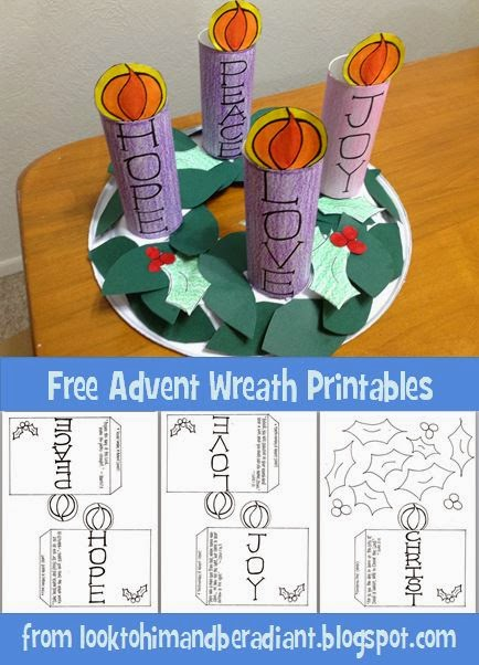 Look to Him and be Radiant: Kids' Advent Wreath- Free Printables