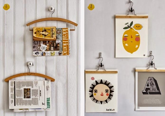 Decoraci n f cil decorar las paredes con perchas de ropa for Laminas gigantes para pared