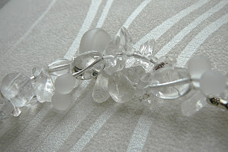 Naszyjnik ze szkła - przezroczysty, bezbarwny