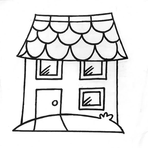 Dibujos infantiles dibujo infantil casa for Imagen de lavaderos para casas