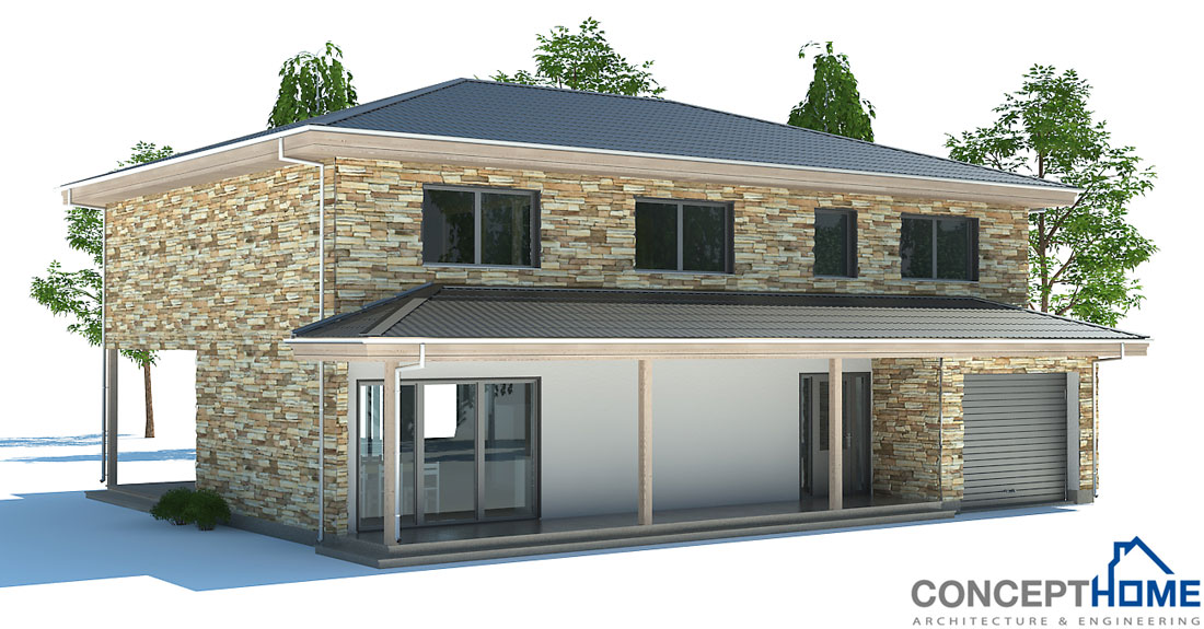 Affordable home plans economical house plan ch180 for 4 bedroom house plans under 200 000