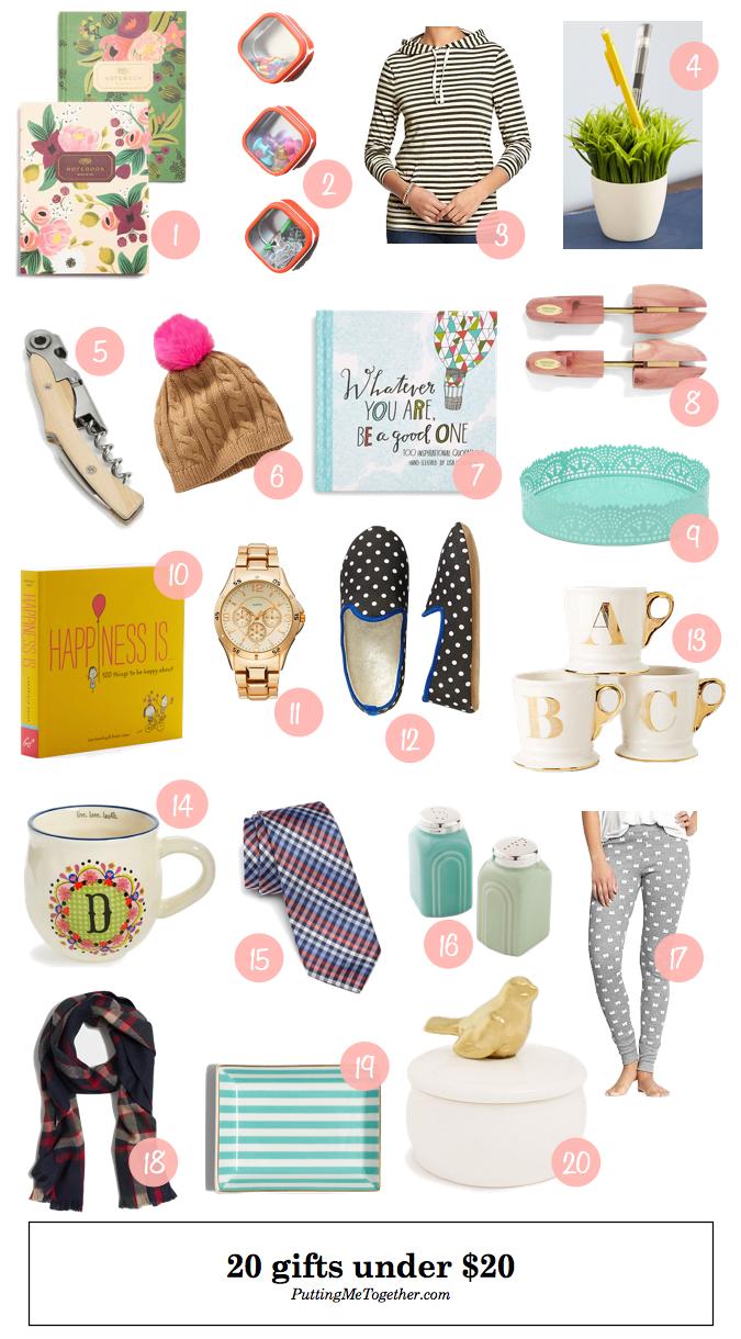 Christmas gift ideas under 20 putting me together bloglovin