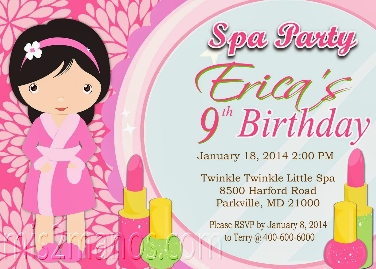 Mis 2 Manos: Made by My Hands: Sleepover Spa Party Birthday Girls ...