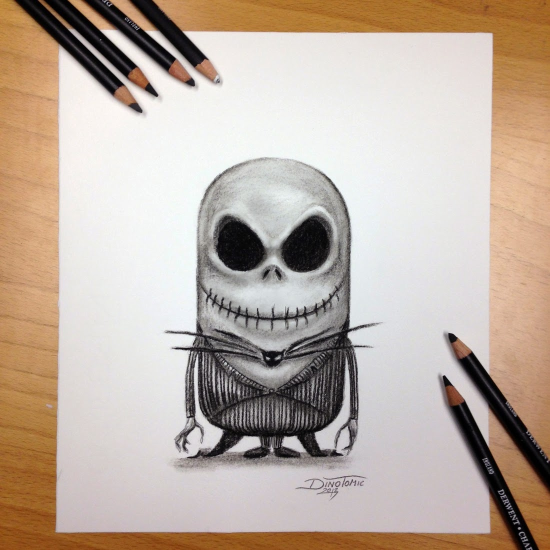 04-Minnion Jack Skellington-Dino-Tomic-AtomiccircuS-Mastering-Art-in-Eclectic-Drawings-www-designstack-co