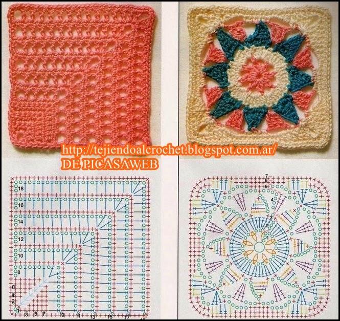 Tejer malla en crochet para colcha imagui - Colchas a ganchillo muestras ...