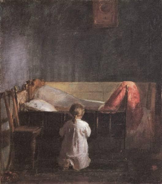 девочка молится, вечерняя молитва