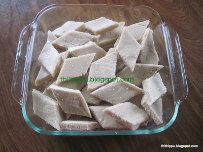 Sweet with cashew nuts and sugar