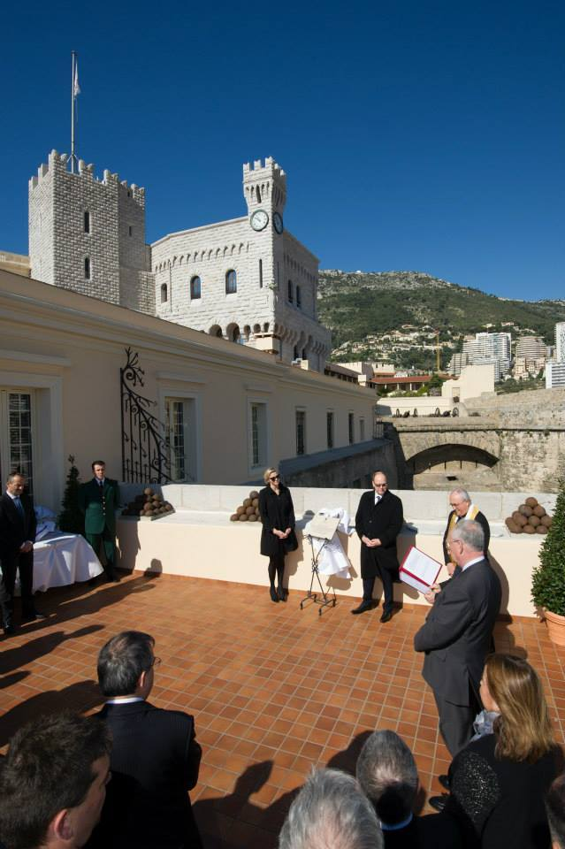 Monaco's royal couple attends the opening of the new ...