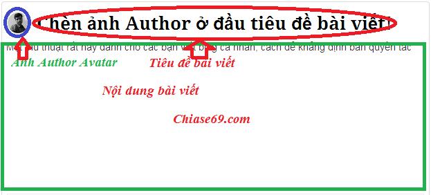 Thêm ảnh tác giả author avatar ở đầu tiêu đề cho blogspot