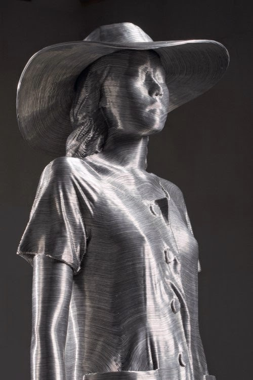Seungmo Park esculturas feitas de fios de arame metal mulheres