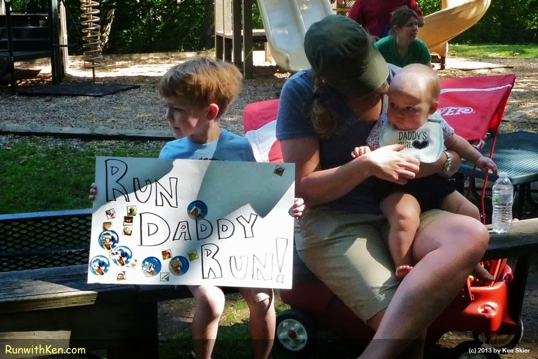 The BEST races bring out the whole family!  At the Prospect Bandit Run (PBR 5K) in Waltham, MA.