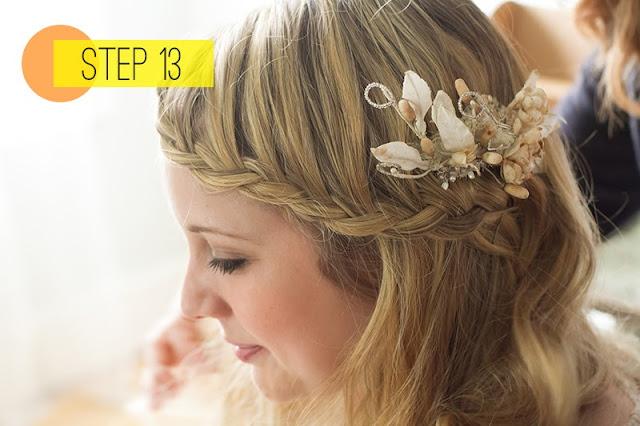 Step 13: Amankan hasil akhir kepang waterfall Anda dengan jepit bobby ...