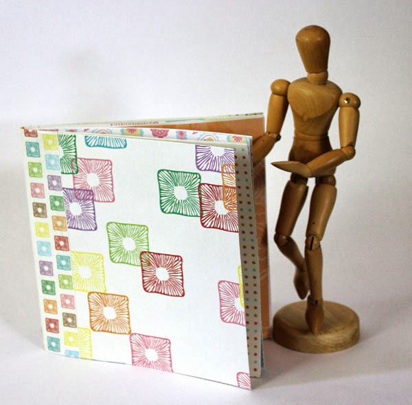 Mini Book Made From Scrapbook Paper