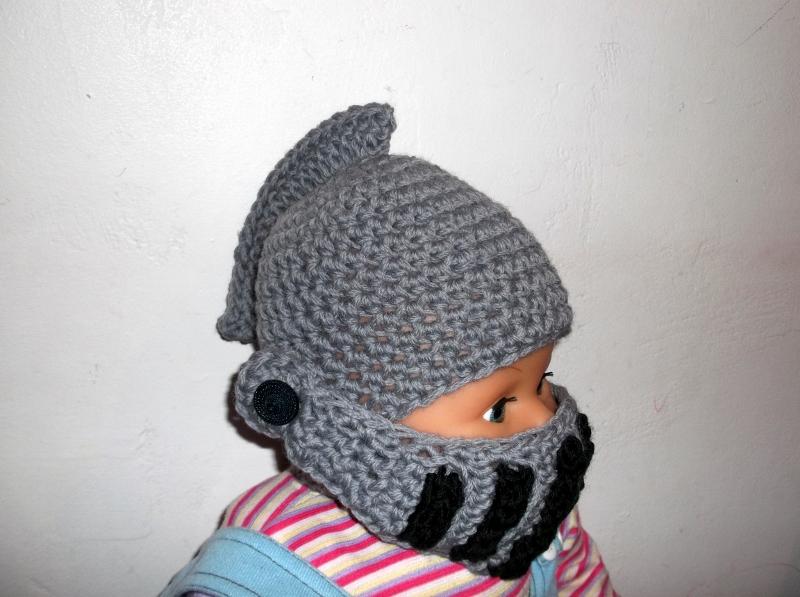 Crochet Knight Helmet : Knight Helmet CROCHET PATTERN - Moveable Visor - Face Mask - 7 sizes ...