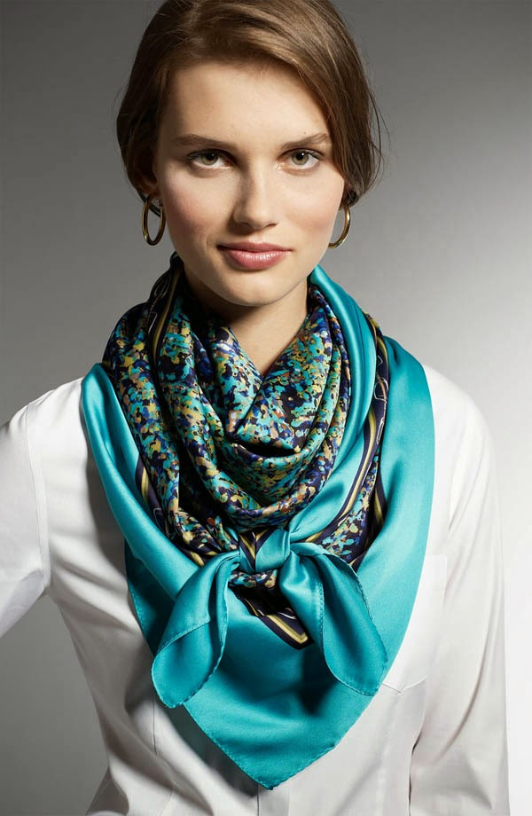 Amazing blue scarf