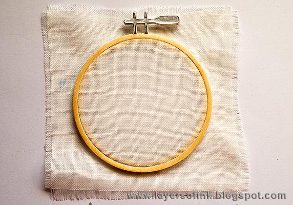 Layers of ink embroidery hoop tutorial