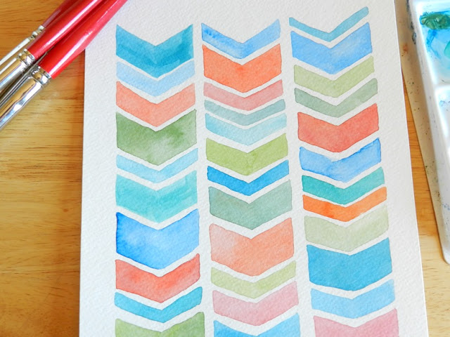 multicolored chevron design