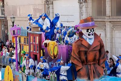Mardi Gras watchmen rorschach clipart