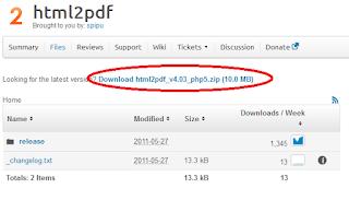 2 - Tutorial Menggunakan HTML2PDF