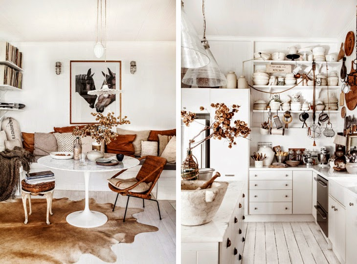white rustic kitchen