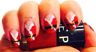 nail art costume pere noel , nail art de noel