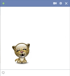 Facebook Baby Leopard Emoticon