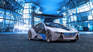 BMW Vision Concept Hybrid Car City Glass Awesome HD Wallpaper