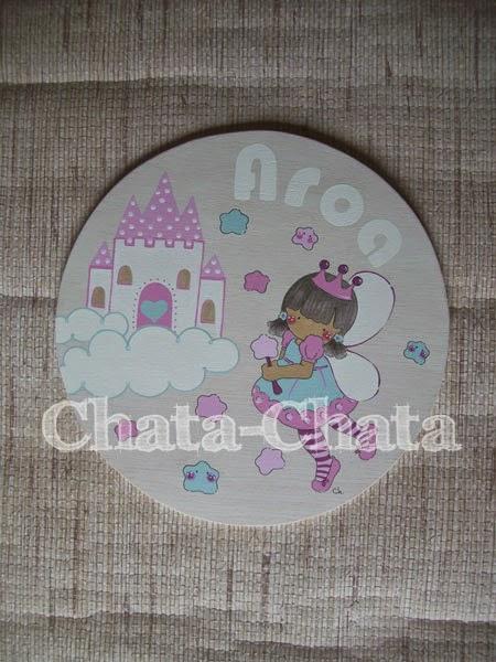 Chata chata decoraci n infantil placa para la puerta for Placas decoracion pared