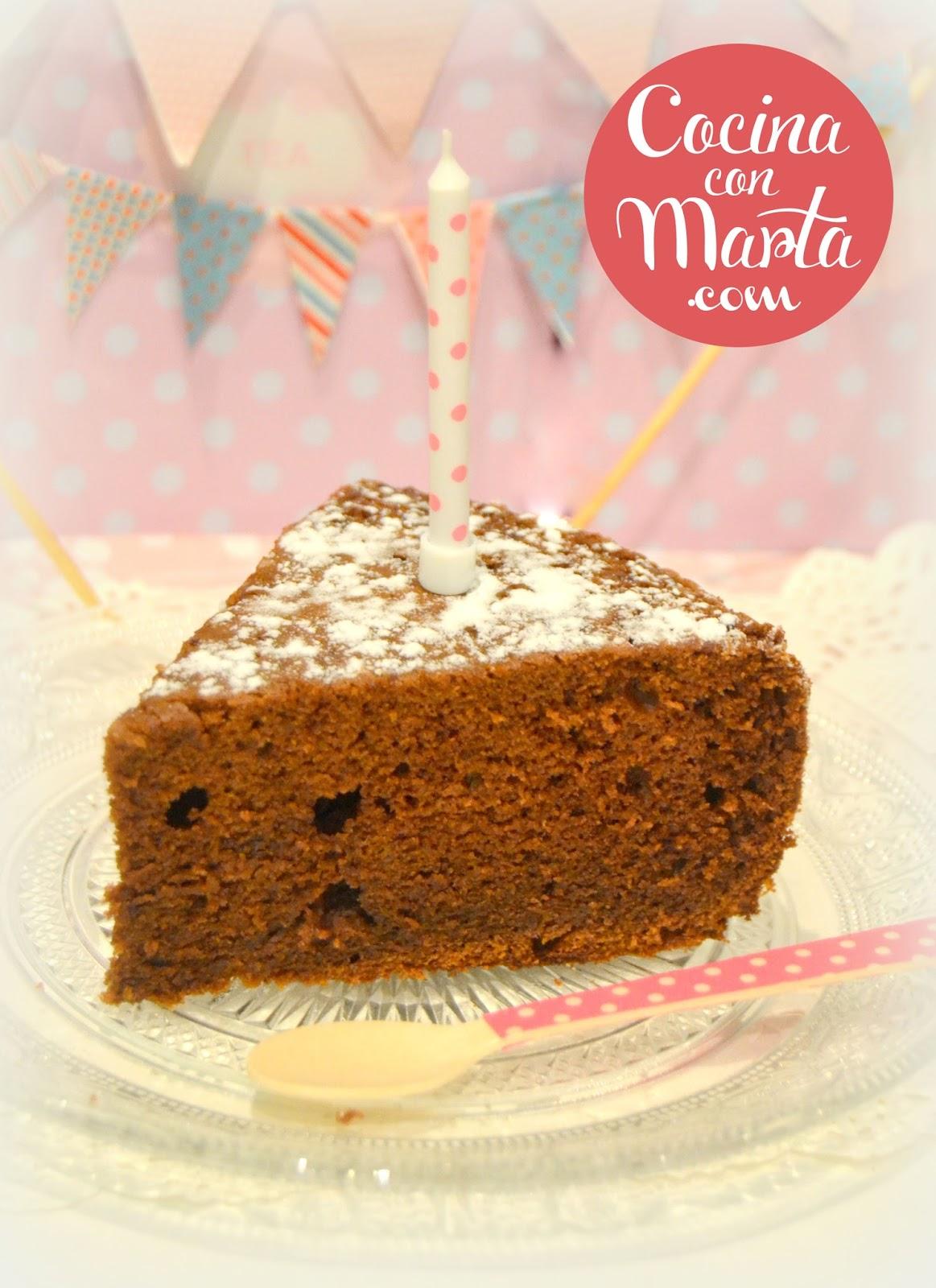 Receta hecha con olla GM, bizcocho de chocolate casero. Fácil, rápido y sencillo. Cocina con Marta.