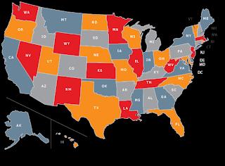 Student debt, states
