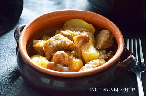 Spezzatino con patate funghi e zucca