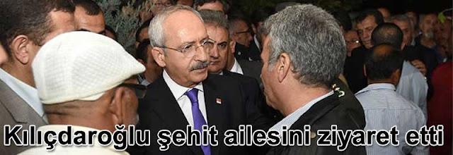 Kemal Kilicdaroglu sehit ailesini ziyaret etti