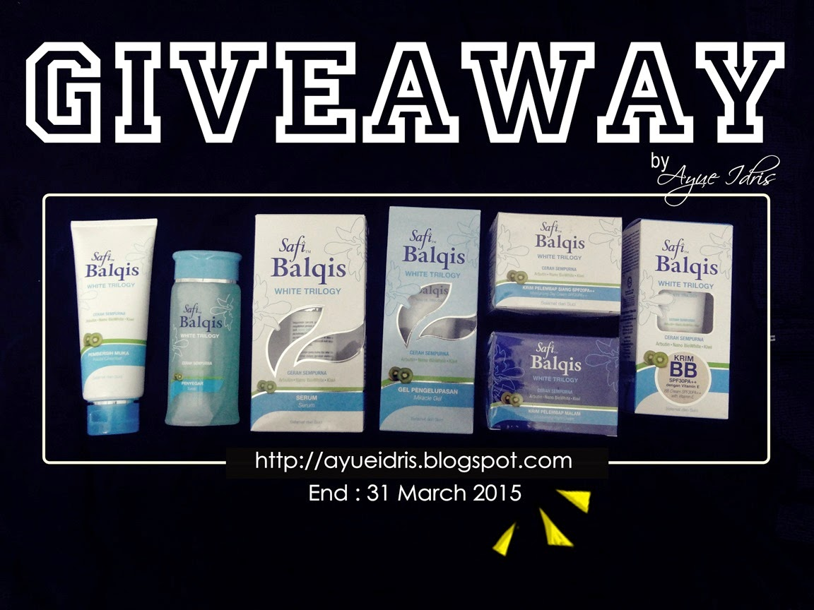 GIVEAWAY SAFI BALQIS WHITE TRILOGY by Ayue Idris